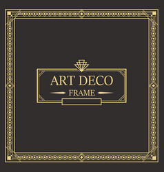 Art deco border and frame vector
