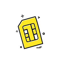 artificial card intelligence sim icon design vector image