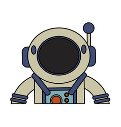 astronaut suit helmet space vector image