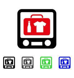 Baggage xray screening flat icon vector