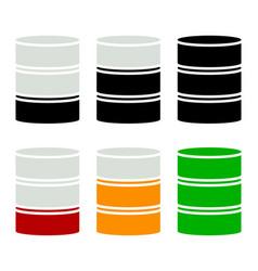 Barrel shape silhouette simple 3d barrel icon vector