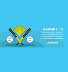 Baseball club banner horizontal concept vector