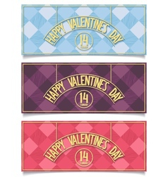Beautiful Happy Valentines Day banners vector image