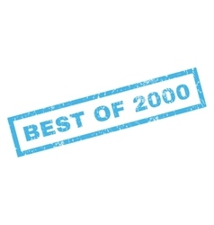 Best of 2000 rubber stamp vector