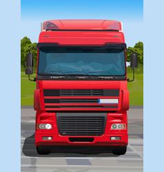 Big red truck vector