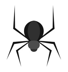 black spider icon isolated vector image
