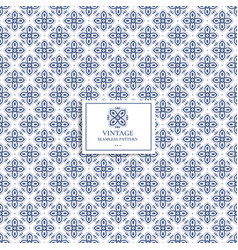 Blue and white geometric pattern vector