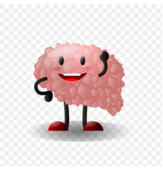 brain human internal organ realistic vector image