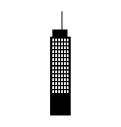 building tower skyline vector image