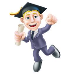 business graduate vector image