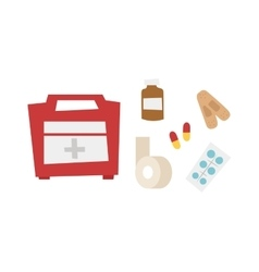 Car medical kit vector image