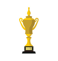Champion cup for winner in flat style vector