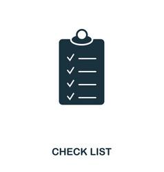check list icon line style icon design ui vector image