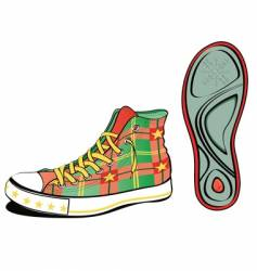 christmas shoe vector image