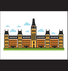 Classic architecture big building vector