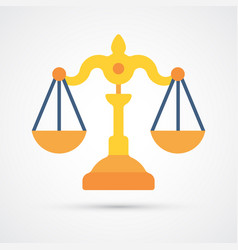 colored scales justice trendy symbol vector image