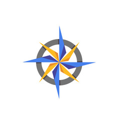 Compass abstract icon elament vector