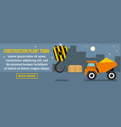 Construction plant town banner horizontal concept vector