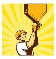 Construction worker background vector
