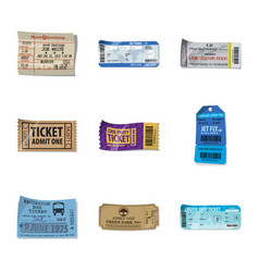 Design of ticket and admission logo vector