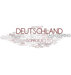 Deutschland word cloud concept vector