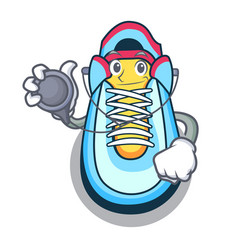 doctor classic sneaker character style vector image