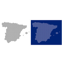 dotted spain map vector image