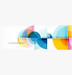 fantastic circle modern geometric vector image