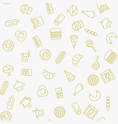 fast food minimal seamless pattern vector image