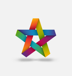 five-pointed star in rainbow colors vector image