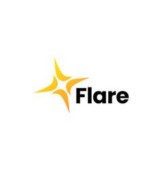 flare light bright logo icon vector image