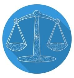 Flat icon of zodiac sign Libra vector image