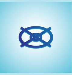 gradient target icon isometric blue vector image