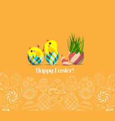 happy easter for design posters and flyers on the vector image