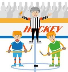Hockey is a team game vector