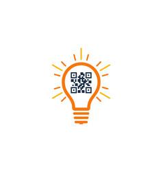 Idea barcode logo icon design vector