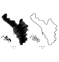 jizan region map vector image