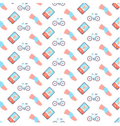 Knee bandage cycling sport injury human leg icon vector