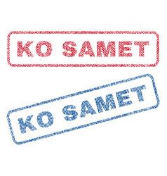 ko samet textile stamps vector image