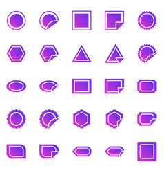 label gradient icons on white background vector image