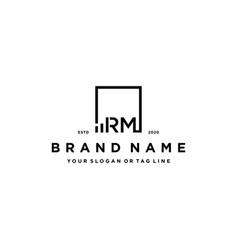 Letter rm square logo finance design vector