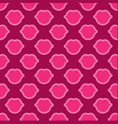 lips seamless texture bright pink color vector image