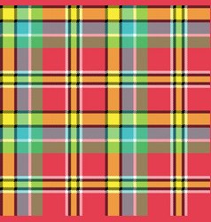 Madras fabric texture square pixel seamless vector
