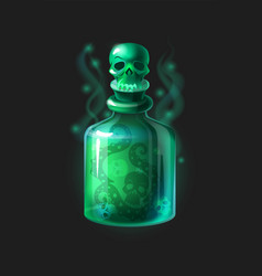 magic poison potion cartoon game interface vector image