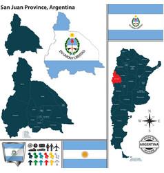 Map of san juan province argentina vector