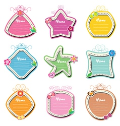 Memo note set vector