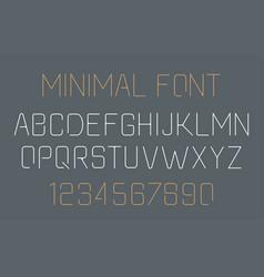 minimal font vector image