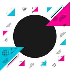 minimal hipster pattern vector image