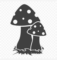 mushroom icon on a vector image