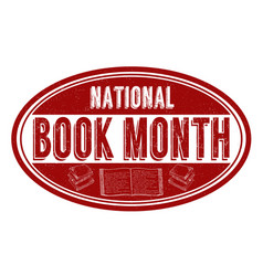 National book month grunge rubber stamp vector